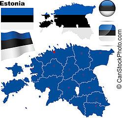 Estonia vector set.