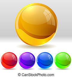 Glossy balls - Vector collection of realistic glossy balls....