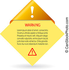 Vector warning card