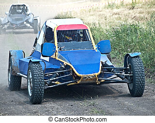 extreme races - extreme offroad motor car on the track