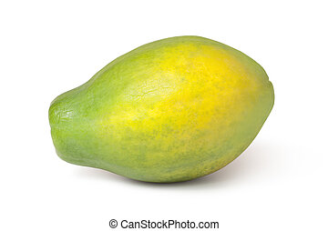 papaya - whole papaya fruits on white background
