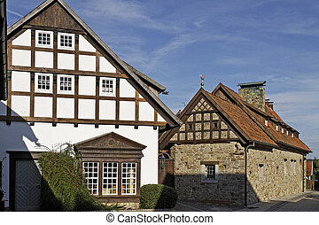 Timbered house in Lower Saxony, Germany, Europe
