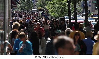 Crowded Sidewalk 3