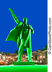 Lenin in Green Light - Statue of the Russian Communist...