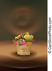 Still life with dried flowers