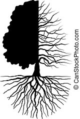 Tree concept - Tree silhouette concept symbolizing the...