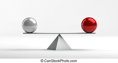 Economic situation - Conceptual image of perfect balance...
