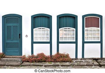 Simple door and 3 windows