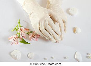 rubber medical gloves