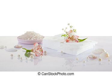 white napkins isolated