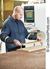 wood furniture worker at workshop