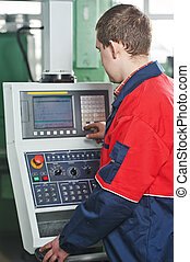 worker at industial manufacture - technician engineer worker...