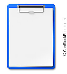 Clipboard with blank sheets of paper - Business office...