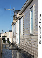Exterior of mobile home - Exterioer of mobile home on...