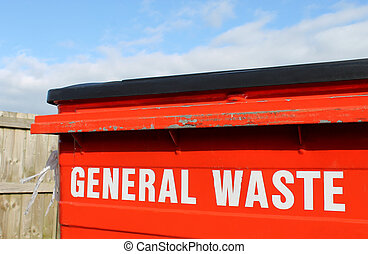 General waste bin - Industrial general waste bin with...