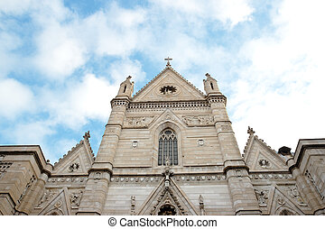 Naples Cathedral - The façade of Naples Cathedral, Saint...