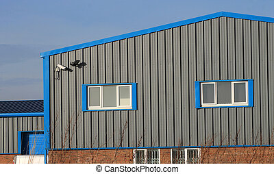 Modern industrial building - Exterior of modern industrial...