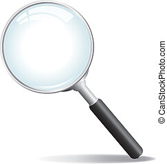 Vector Magnifying Glass - A silver colored magnifying glass...