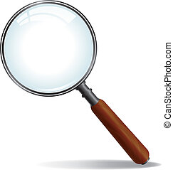 Vector Magnifying Glass - A brushed nickle metal magnifying...