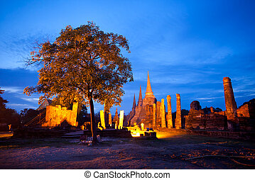 Wat Phra Sri Sanpetch, the historical temple in Ayutthaya,...