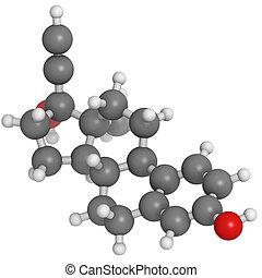 molecular, ethinyl, anticonceptive, hormônio, estradiol,...