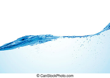 water wave - closeup of water wave isolated on white