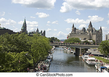 Rideau Canal Ottawa, world heritage site on Canada Day