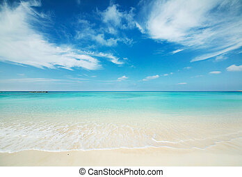 seascape - Japanese clean white beach in Okinawa prefecture