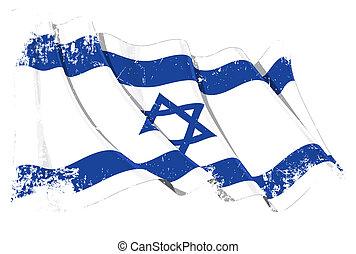 Israeli Flag Grunge