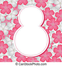 8 March background - 8 March congratulatory background with...