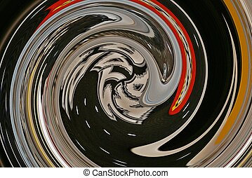 Abstract of sci fi face in swirls