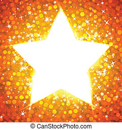Gold star card template