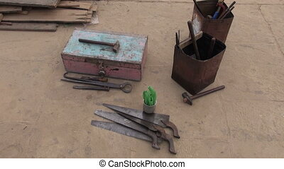 old primitive carpenter tools in India