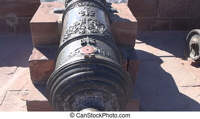 ancient ornamental cannon in india