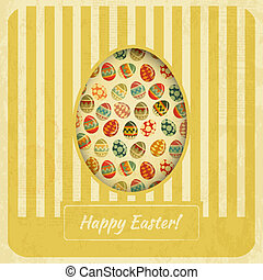 Vintage Yellow Easter Card