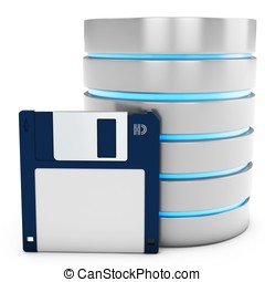 3d database with floppy disk
