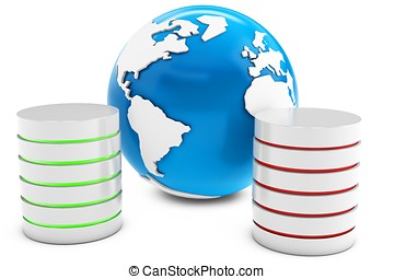 3d databases with Earth Planet globe