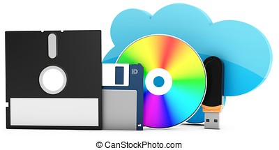 3d data storage evolution from disks to cloud