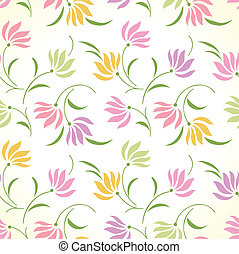 Fancy seamless floral background
