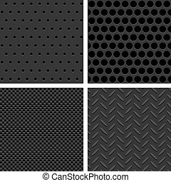 Seamless Metal Texture Patterns - Vector Metal Texture...
