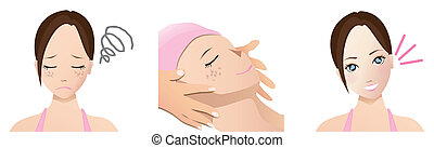 facial treatment - This is a picture of facial treatment.