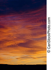 sunset clouds in the landscape