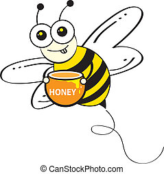 Bees & Honey Comb design