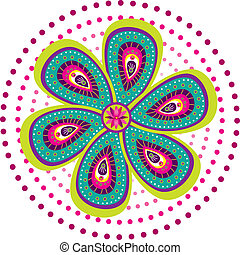 Colorful Indian pattern - Traditional culture art pattern...
