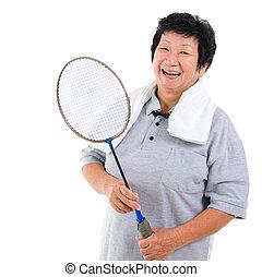 Active Asian senior