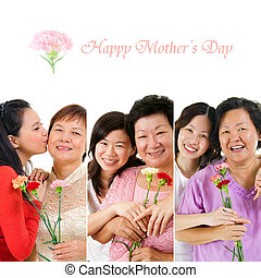 Mothers day celebration Group of different mothers and...