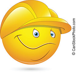 Constructional Worker Smiley - Creative Abstract Conceptual...