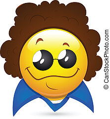 Disco Artist Smiley Character Face - Conceptual Creative Art...