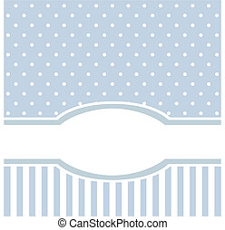 Blue vector card or invitation for birthday or baby shower...