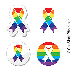 Rainbow flag ribbon
